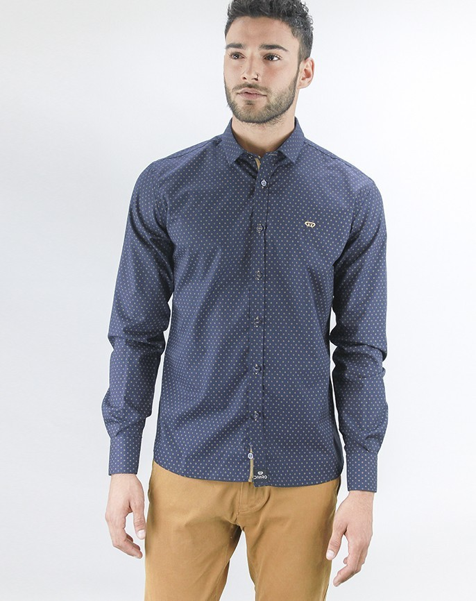 6aa5b2c182ad6 Camisa ragusa color azul marino precio rebajado previous jpg 686x866 Azul  fuerte camisas color