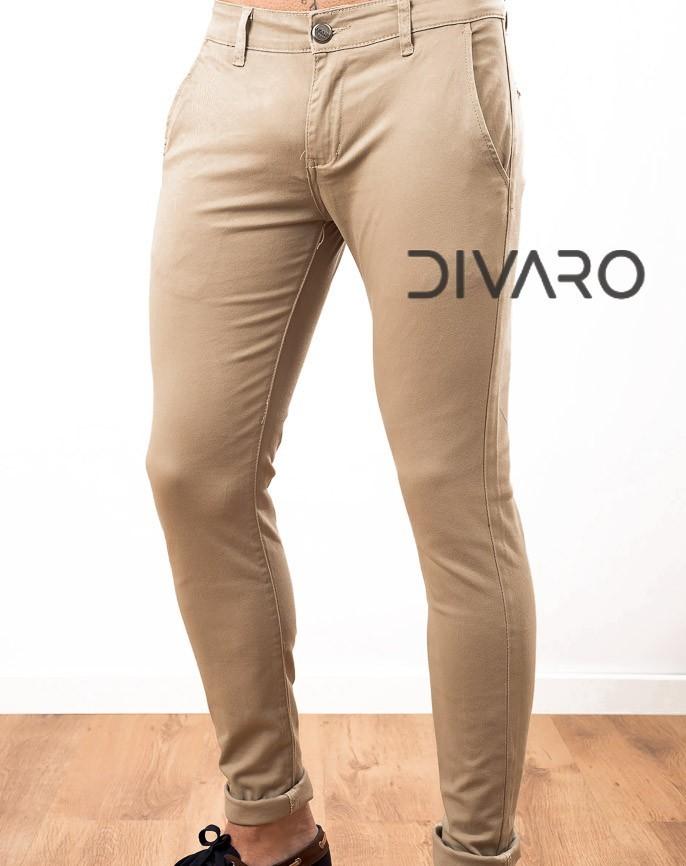 Pantalón Skinny Chino Divaro Beis Color Fit gb7vYf6y